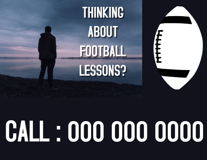 FOOTBALL LESSONS FLYER
