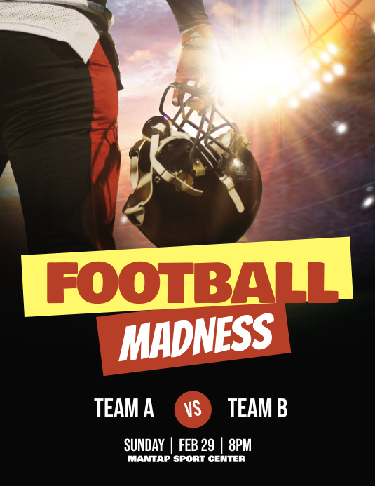 Football Madness Event Game Match Poster Flyer