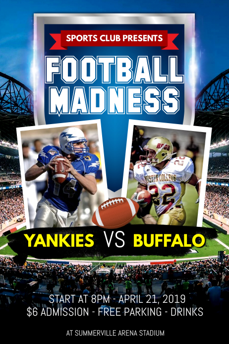 Football Madness Poster