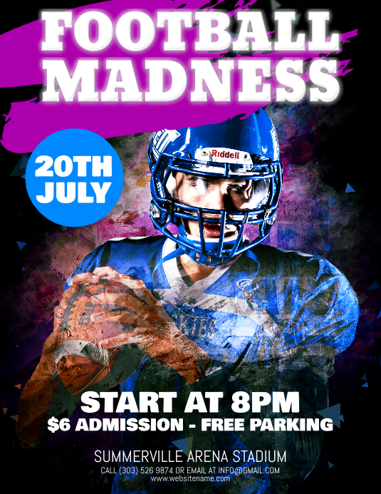 Football Madness Flyer