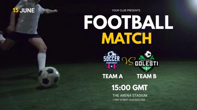 football match Twitter Post template