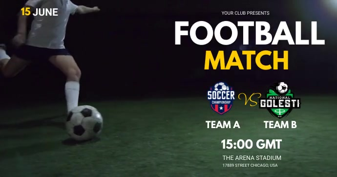 football match Facebook Shared Image template