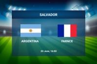 Football Match Banner 4' × 6' template