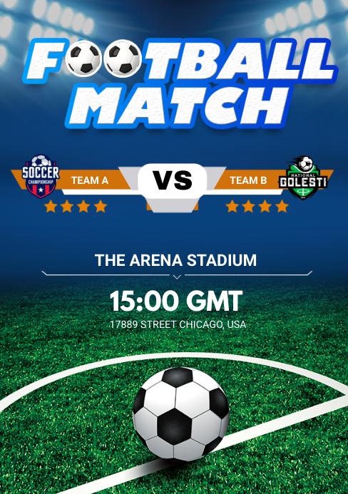 football match A5 template