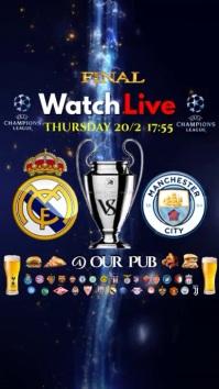 Football Match Live Instagram Digitale Vertoning (9:16) template