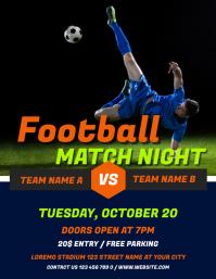 Football Match Night Sport Flyer Template