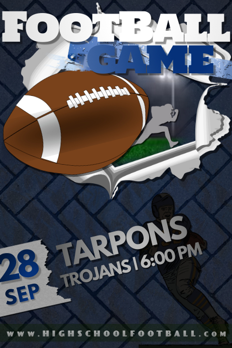 Football NFL High School Event Sports Tailgate Game Party