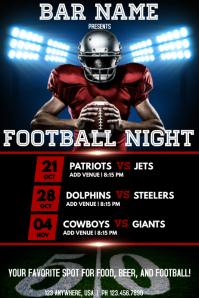 Football Night Poster template