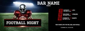 Football Night Facebook Omslag Foto template