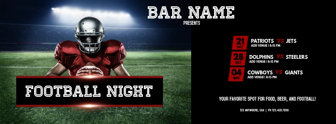 Football Night Couverture Facebook template