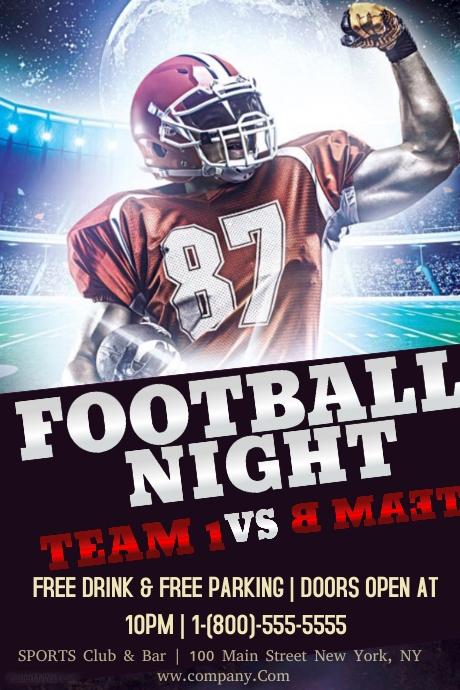 football night template
