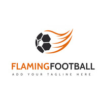 football orange and grey colors logo sport ic template