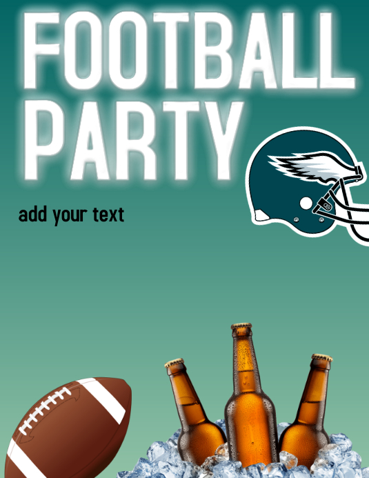 Customizable Design Templates For Super Bowl Flyer Postermywall