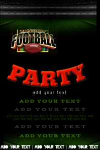 Football Party Event Flyer Invitation