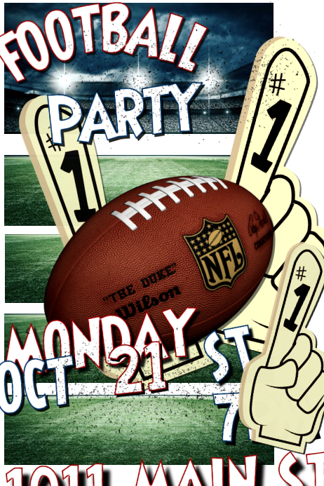 football party template postermywall