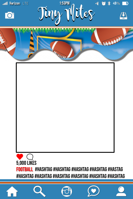 Football Party Prop Frame