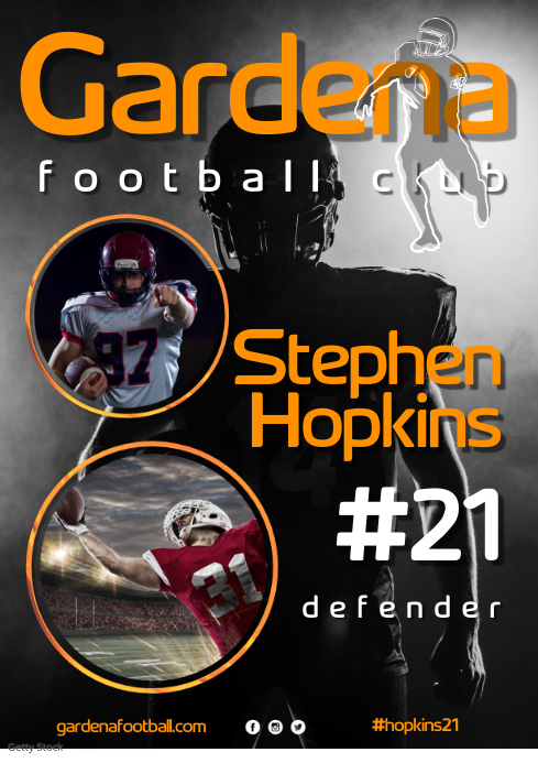 Football Player Poster