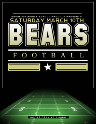 Customizable Design Templates for Football Flyer   PosterMyWall