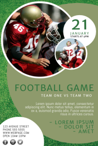 Customizable Design Templates for Football Flyer Template | PosterMyWall