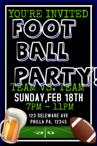 19,900+ Customizable Design Templates for Football Party | PosterMyWall