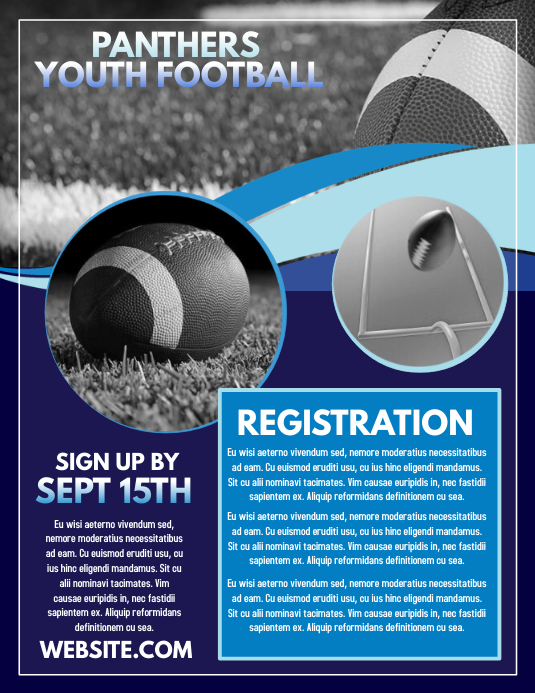 Football Registration Folder (US Letter) template