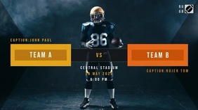 Football/Rugby Match Poster Digital Display (16:9) template