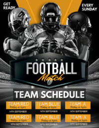 Football schedule, soccer schedule Flyer (US Letter) template