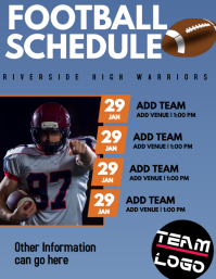 Football Schedule and Flyer