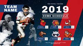 Football Schedule Digital Display
