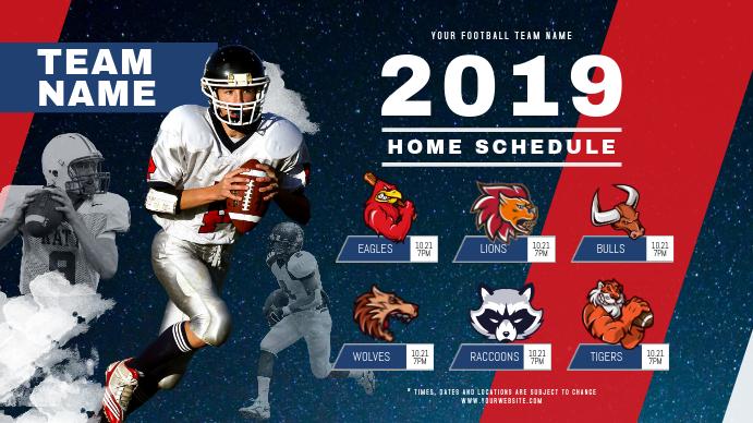 Football Schedule Digital Display