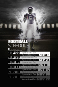 1 670 Customizable Design Templates For Football Schedule