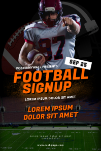Football Signup Flyer Tempalte