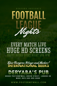 Football Soccer Bar Pub Poster Template