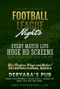 Football Soccer Bar Pub Poster Template