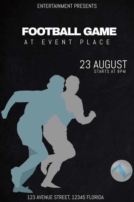 football soccer game match event poster flyer template
