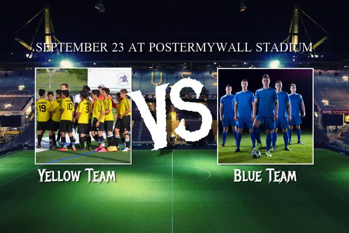 Football Soccer Match Advertising Poster template