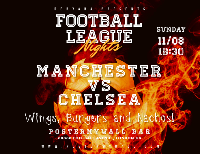 Football Soccer Match Flyer