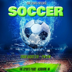 FOOTBALL SOCCER TRYOUTS FLYER