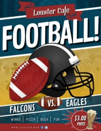 Football Tailgate Party Cafe Flyer