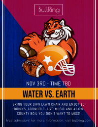 Football Tailgate Party Flyer template