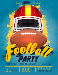 Football Tailgate Party Screening Flyer