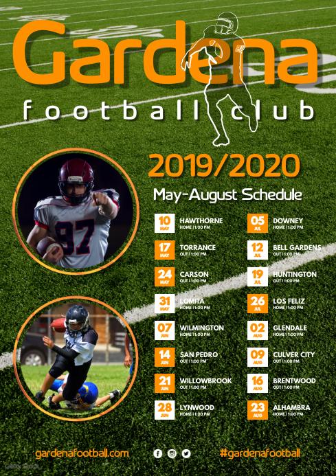 Football Team Poster A3 template