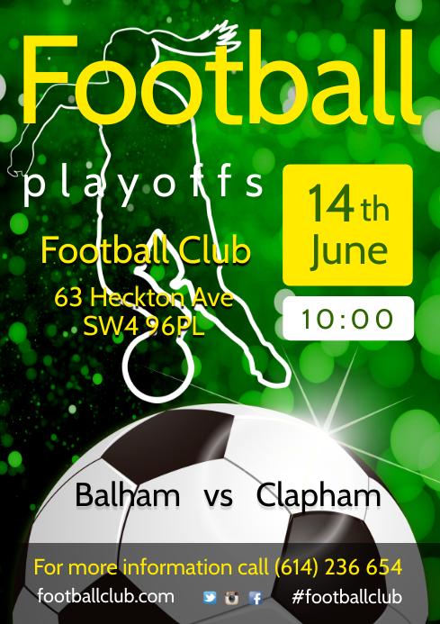 Football Team Schedule Poster