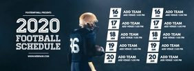 Football team Schedule Template