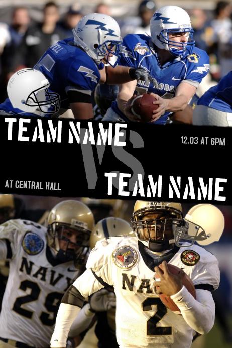 football team vs team flyer template