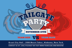 Football Teams Tailgate Party Invitation Poster