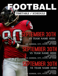 Football Timetable / Schedule Flyer Template