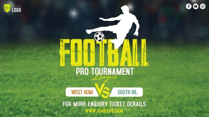 Football Tournament Ad Twitter Plasing template