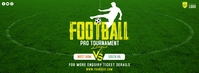 Football Tournament Ad Couverture Facebook template