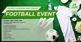 Football Tournament Event Template Facebook Shared Image
